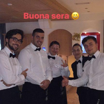 staff di sala dell'Hotel Isolabella Primiero - Trentino
