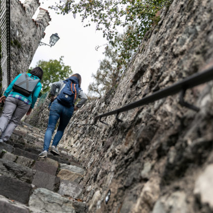 Le vie del centro storico di Fiera di Primiero in Trentino