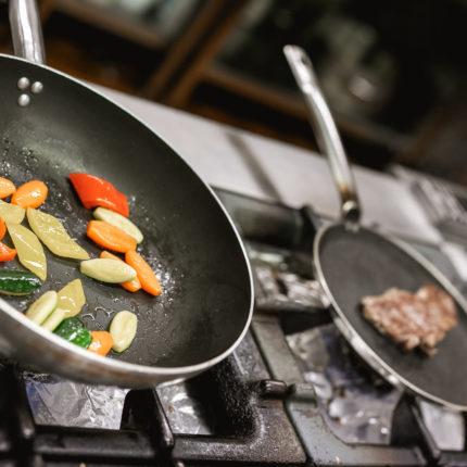 La cucina dell'Hotel Isolabella di Fiera di Primiero in Trentino