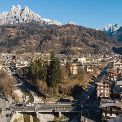 Panoramica aerea Hotel Isolabella - Trentino