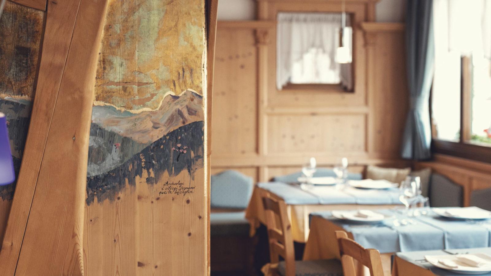 La Sala dell'Albero del ristorante dell'Hotel Isolabella - Trentino