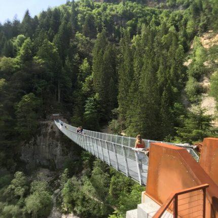 Ponte Tibetano in Val Noana
