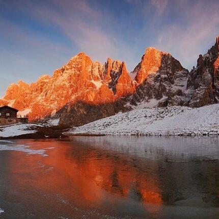 tramonto a Baita Segantini
