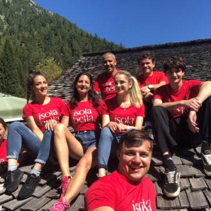 Foto di gruppo staff Hotel Isolabella Primiero - Trentino