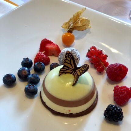 quenelle cioccolato e lime
