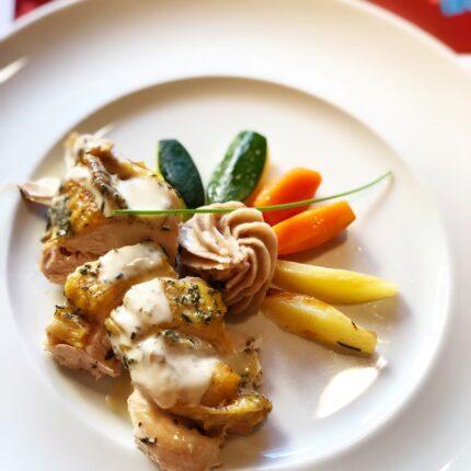 secondo piatto di pollo